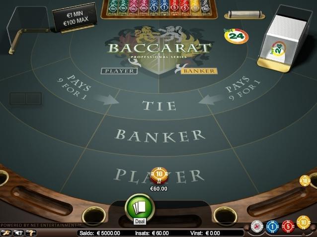 Baccarat hos Betsafe Casino