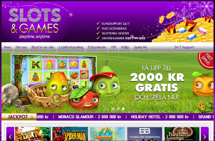 Slots and Games Bonus
