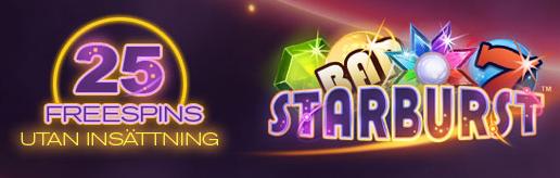 25 gratis spins för nya medlemmar på Starburst hos Red Bet