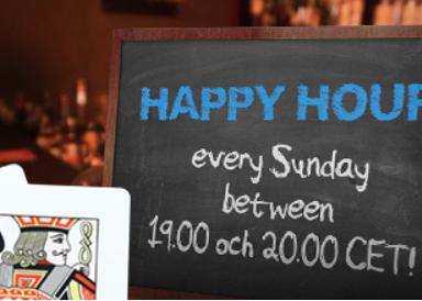 Happy Hour med bonusar varje söndag hos Nordic Bet